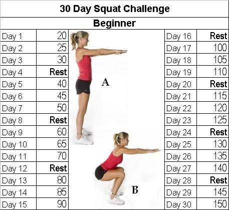 30 jours squat