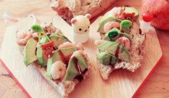 Avocado toast aux crevettes