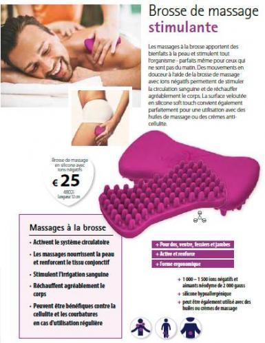 Brosse massage