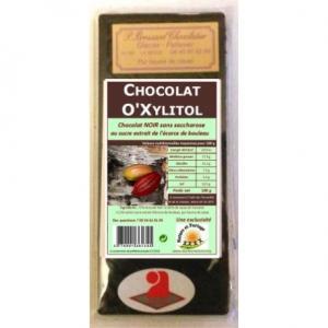 Chocolat noir xylitol sucre de bouleau 100g