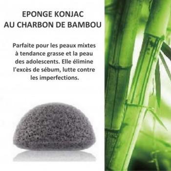 Eponge konjac charbon bambou