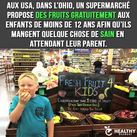 Fruits gratuits