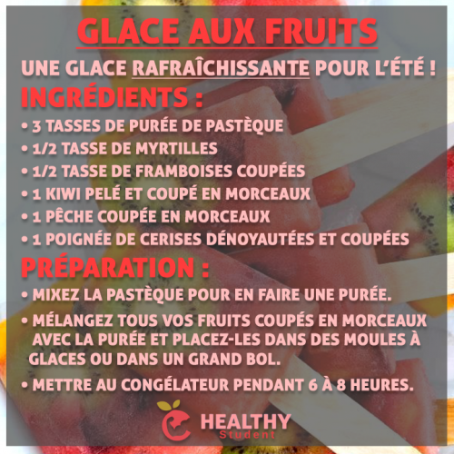 Glace aux fruits