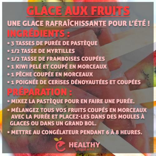 Glace aux fruits