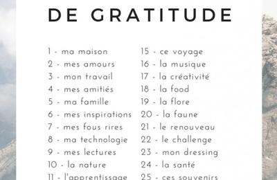 Gratitude paroles