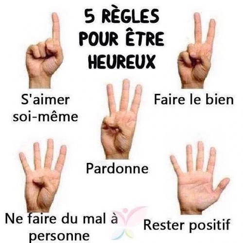 Heureux 5 regles
