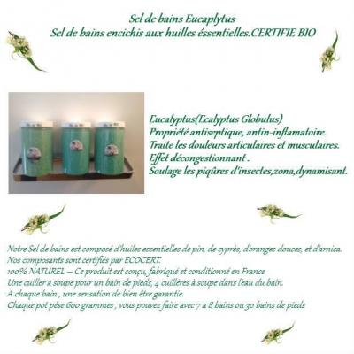 Sels de bain eucalyptus