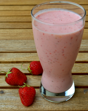 Smoothie fraises banane 1