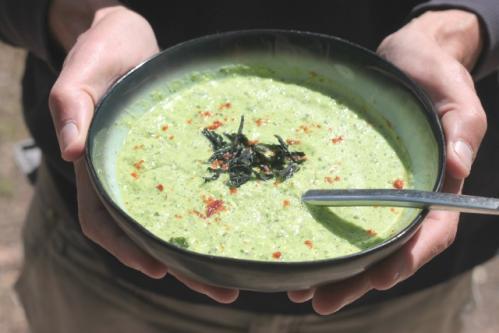 Soupe crue poireaux
