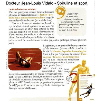 Spiruline et sport 1