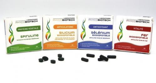 Spiruline fer silicium selenium proteine vegetale