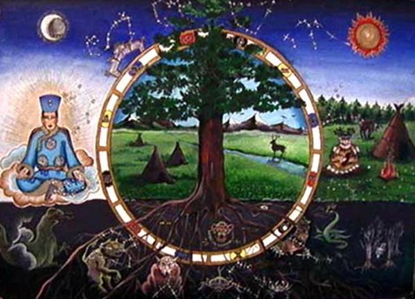 Tesla cercle chamane