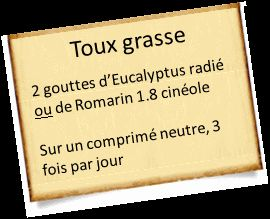 Toux grasse remede