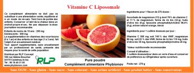 Etiquette vitamine c liposomale